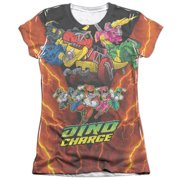 Mighty Morphin Power Rangers Zord Power Juniors Sublimation Shirt