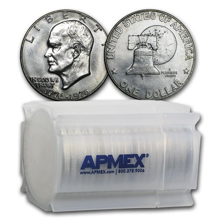 1976 Clad Eisenhower Dollars 20-Coin Roll BU (Type-1)