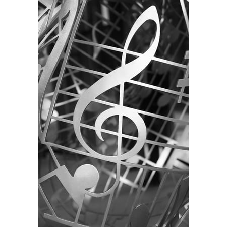 Canvas Print Clef Music Melody Staves Tonkunst Treble Clef Stretched Canvas 10 x 14