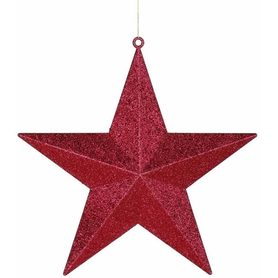 "Vickerman 20"" Glitter Star Christmas Ornament"