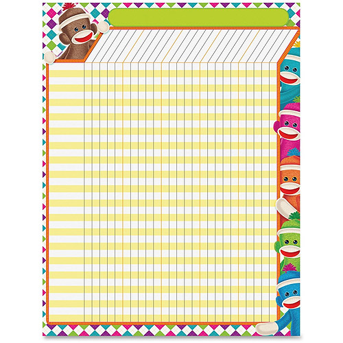 Trend Sock Monkeys Collection Large Incentive Chart