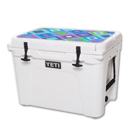 Lid Pastel (MightySkins Protective Vinyl Skin Decal for YETI Tundra 50 qt Cooler Lid wrap cover sticker skins Pastel Argyle)
