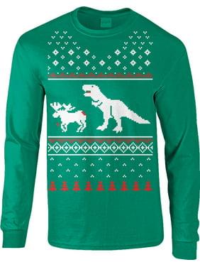 Crazy Dog T-Shirts Unisex Alien Abduction Ugly Christmas Sweater Crew Neck Sweatshirt