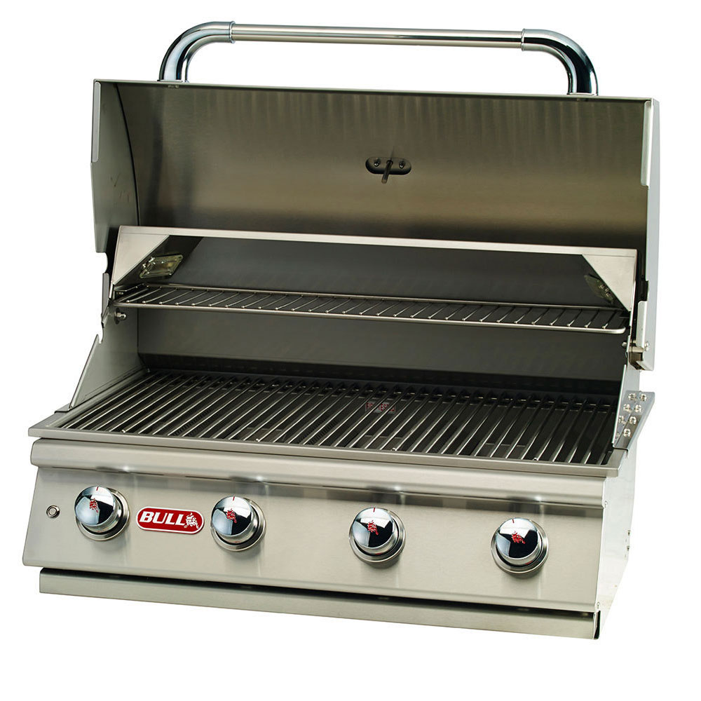 Bull Lonestar 4 Burner 30'' Stainless Steel Gas Barbecue Grill Head, Natural Gas