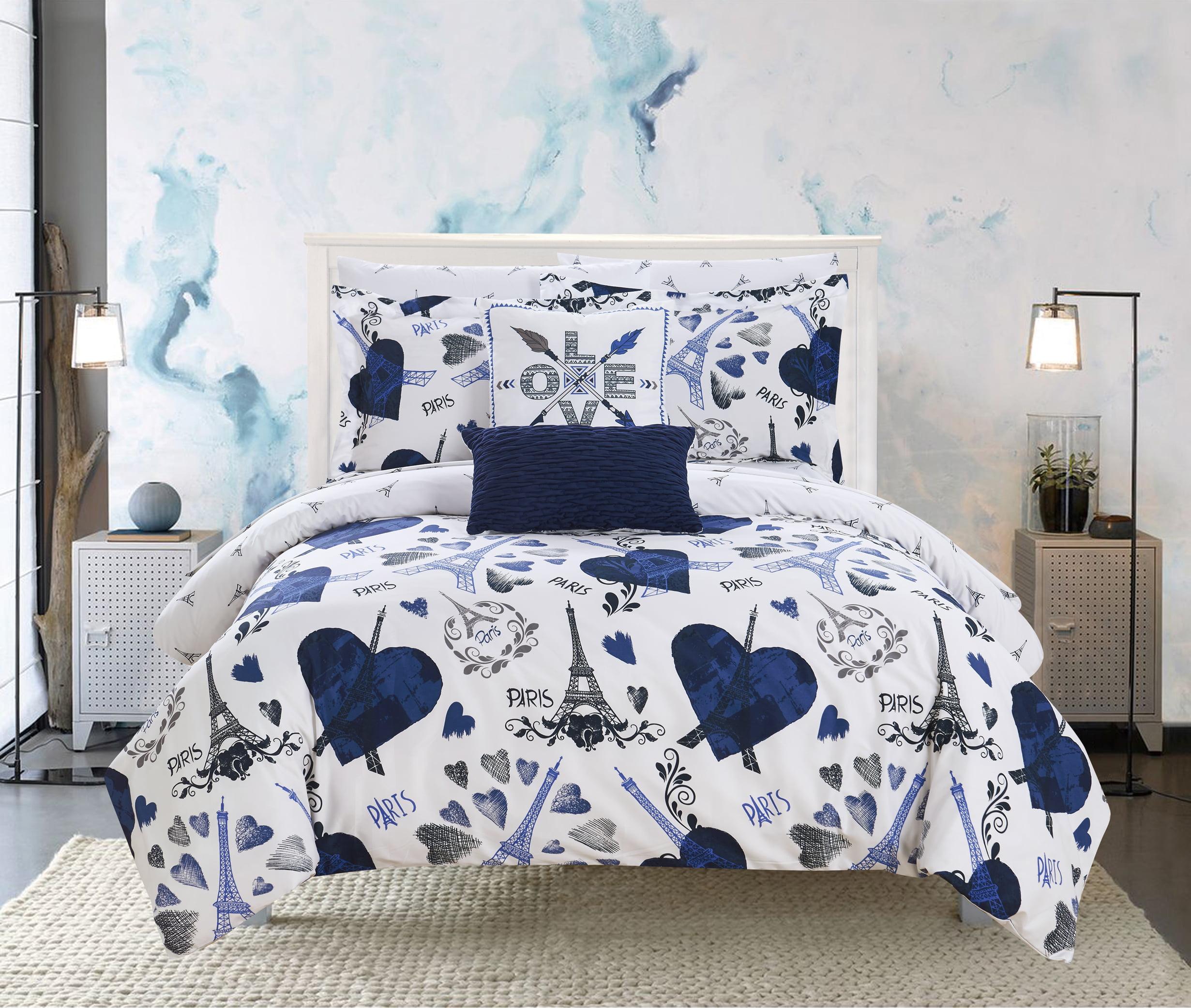 Chic Home Marais 9 Piece Reversible Paris Is Love Design Comforter Set Walmart Com Walmart Com