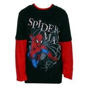 The Amazing Spider-Man Swinging Marvel Comics Superhero Youth Longsleeve T-Shirt