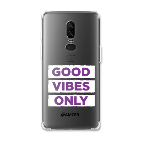 save off 637fb 63bf2 OnePlus 6 Case - Good Vibes Only, Premium Handcrafted Printed ...