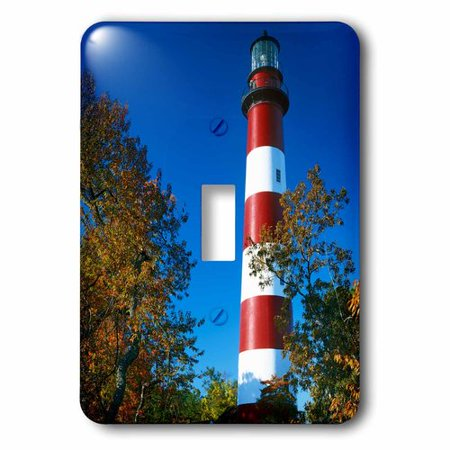 3dRose USA, Virginia, Assateague Island, Assateague Lighthouse., Single Toggle Switch