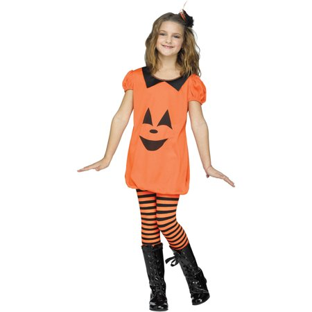 Pumpkin Romper Girls Child Halloween Costume