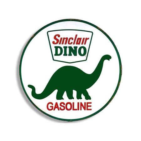 Round Vintage SINCLAIR DINO Gas Sticker (gasoline logo old rat rod)