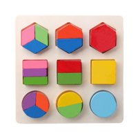Wooden Geometric Shapes Sorting Math Puzzle Preschool Learning Educational Game for Children;Wooden Geometric Shapes Sorting Math Puzzle Preschool Educational Game