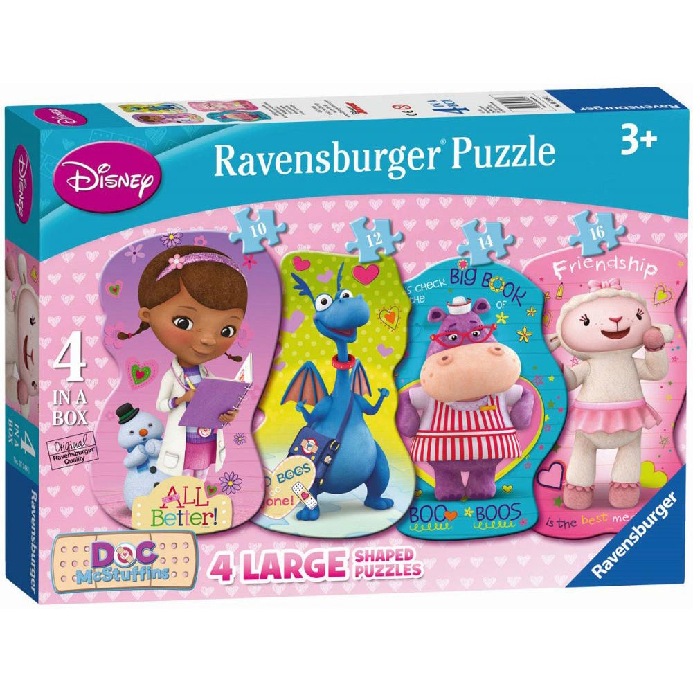 Doc McStuffins Helping Friends 4 Shaped Puzzles in a B,  Kids TV by Ravensburger