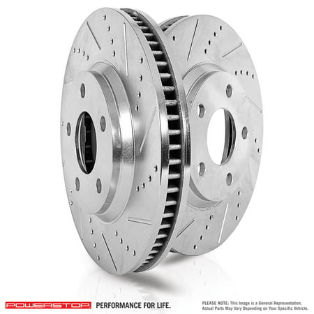 Power Stop EBR1010XPR Evolution Drilled & Slotted Rotors -Rear