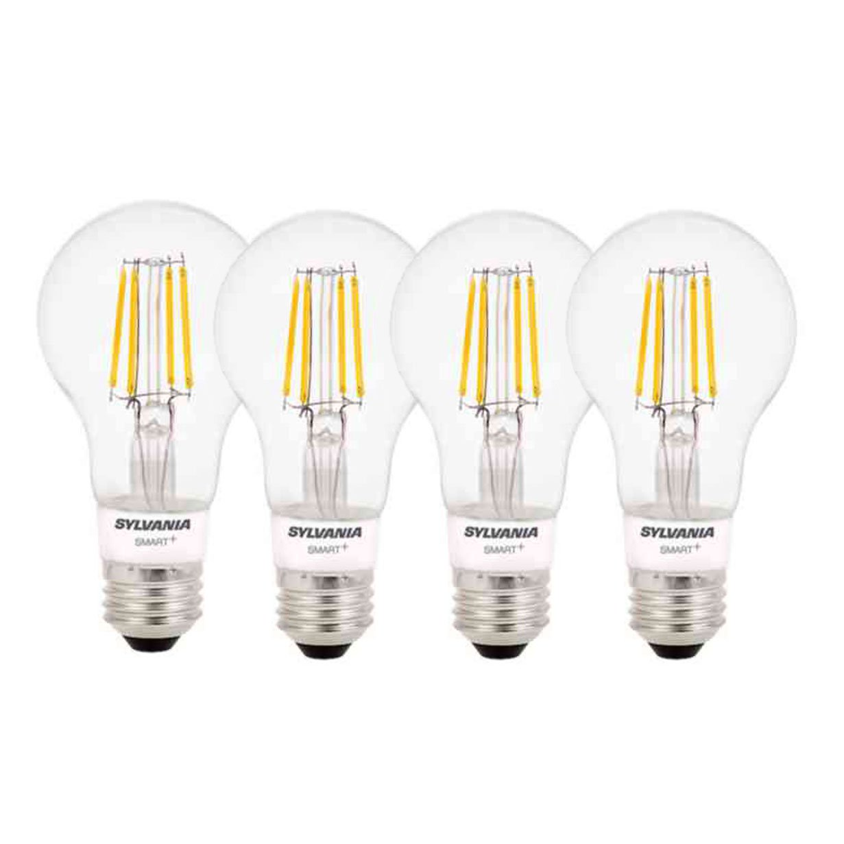 Sylvania Smart+ Home Bluetooth Soft White Dimmable A19 LED Light Bulb (4 Pack)