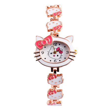 Hello Kitty Style Six White Face Light Pink Band Girls Woman Watch, - Let Me Watch Halloween 6