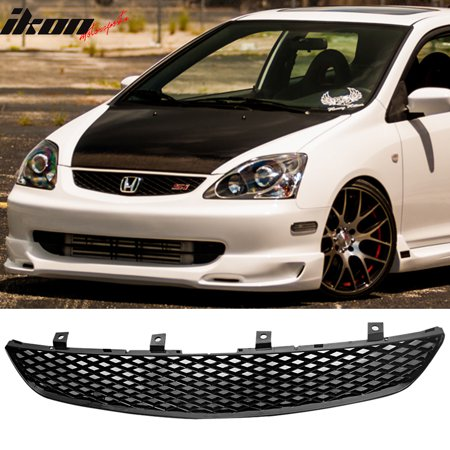 Fits 02 05 Honda Civic 3dr Ep3 Si Hatchback Grill Grille T R