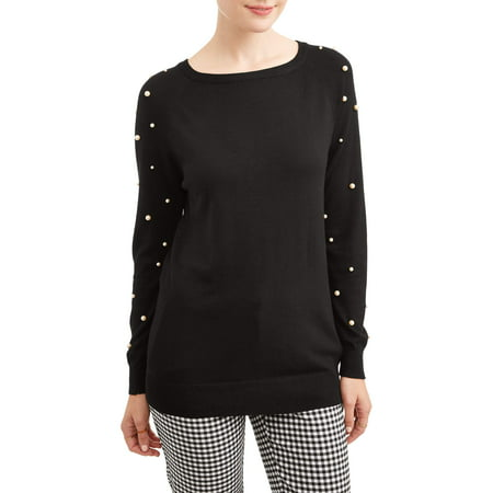 Women's Pearl Stud Raglan Sweater (Mugatu Sweater)