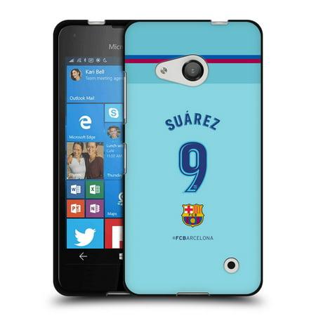 OFFICIAL FC BARCELONA 2017/18 AWAY KIT 1 BLACK SOFT GEL CASE FOR MICROSOFT NOKIA PHONES (Nokia Lumia 550)