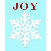 Secretly Designed Snowflake Joy by Secretly Spoiled Graphic Art