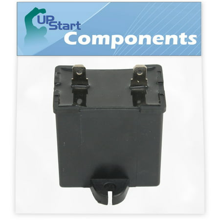 W10662129 Refrigerator and Freezer Compressor Run Capacitor Replacement for Whirlpool 7GS6SHAXKS00 Refrigerator - Compatible with 2169373 WPW10662129 Run Capacitor - UpStart Components Brand