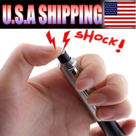 LWS LA Wholesale Store  10 Shocking Electric Shock Novelty Metal Pen Prank Trick Joke Gag Toy Gift Funny &1 Free miniature figures (Adult Toys Wholesale)