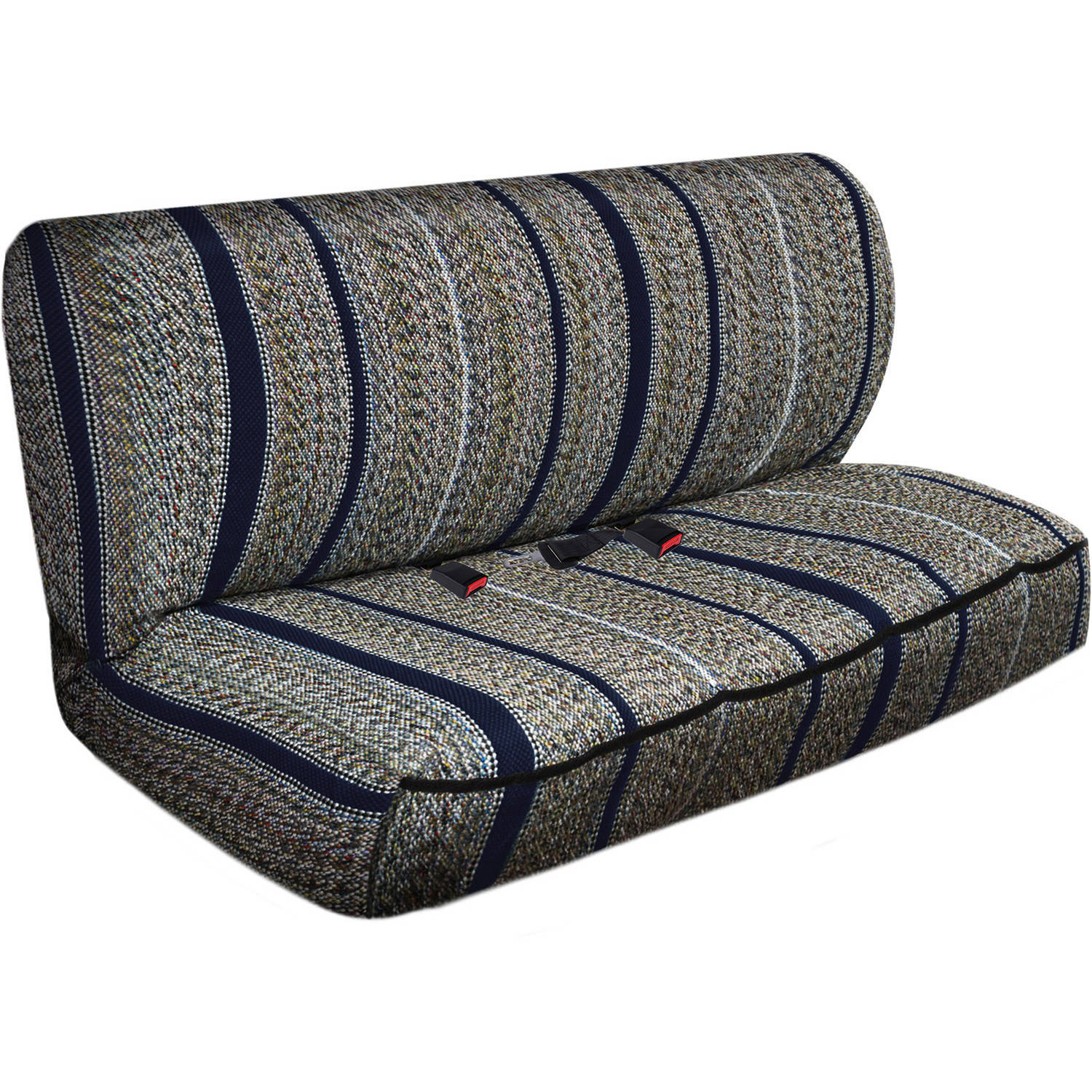 OxGord 2-Piece Full Size Heavy Duty Saddle Blanket Bench Seat Covers, Navy Blue