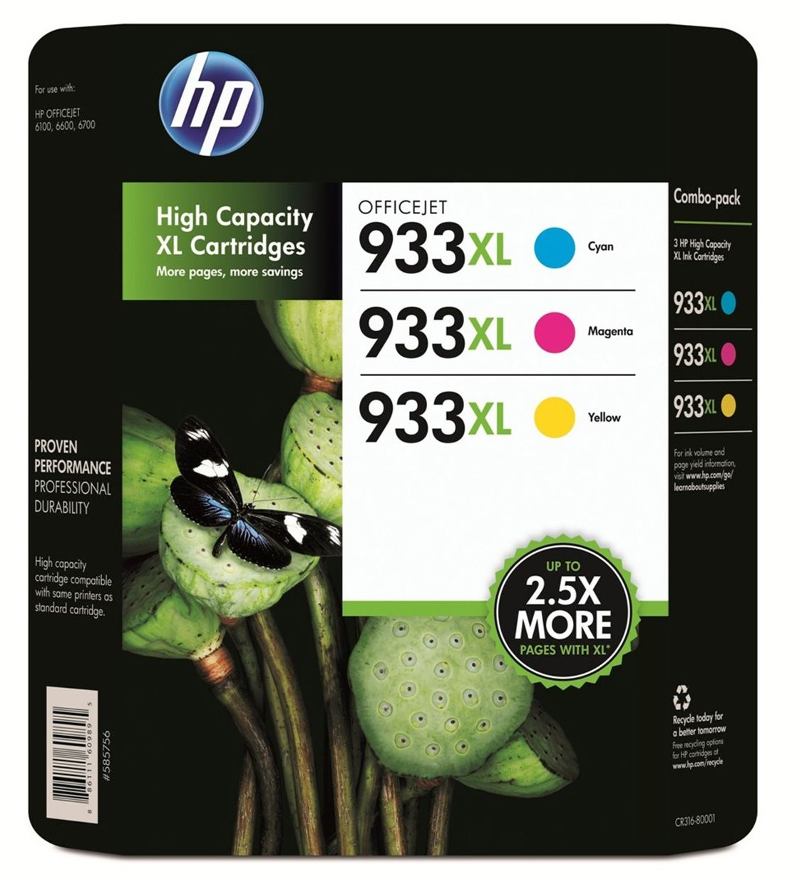 HP 933XL Officejet Ink Cartridge Color by HP