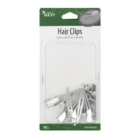 (2 Pack) Cousin Hair Clips, 10.0 (Silver Tallit Clips)