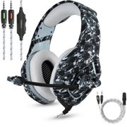Gaming Headset Xbox One Headset with 7.1 Surround Sound Stereo, PS4 Headset with Mic ,Compatible with PC, Laptop, PS4, Xbox One Controller(Adapter Not Included), Nintendo Switch