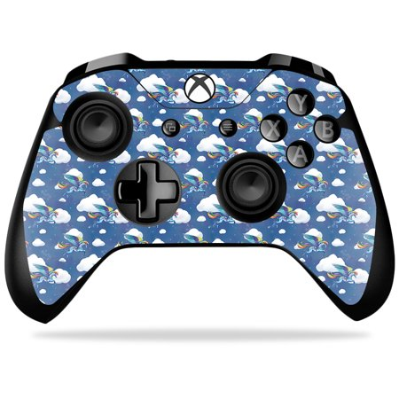 Skin For Microsoft Xbox One X Controller - Rainbow Pegasus | MightySkins Protective, Durable, and Unique Vinyl Decal wrap cover | Easy To Apply, Remove, and Change - Rainbow Pegasus