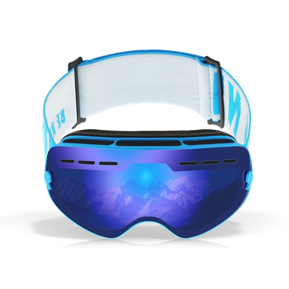 Children Ski Goggles Durable Snow Ski Goggles Double Lens Anti-fog Windproof Mask Glasses by