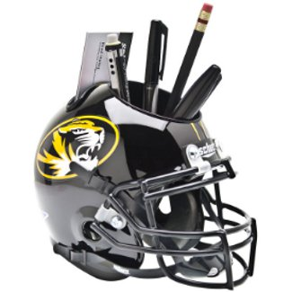 Missouri Tigers NCAA Football Schutt Mini Helmet Desk Caddy