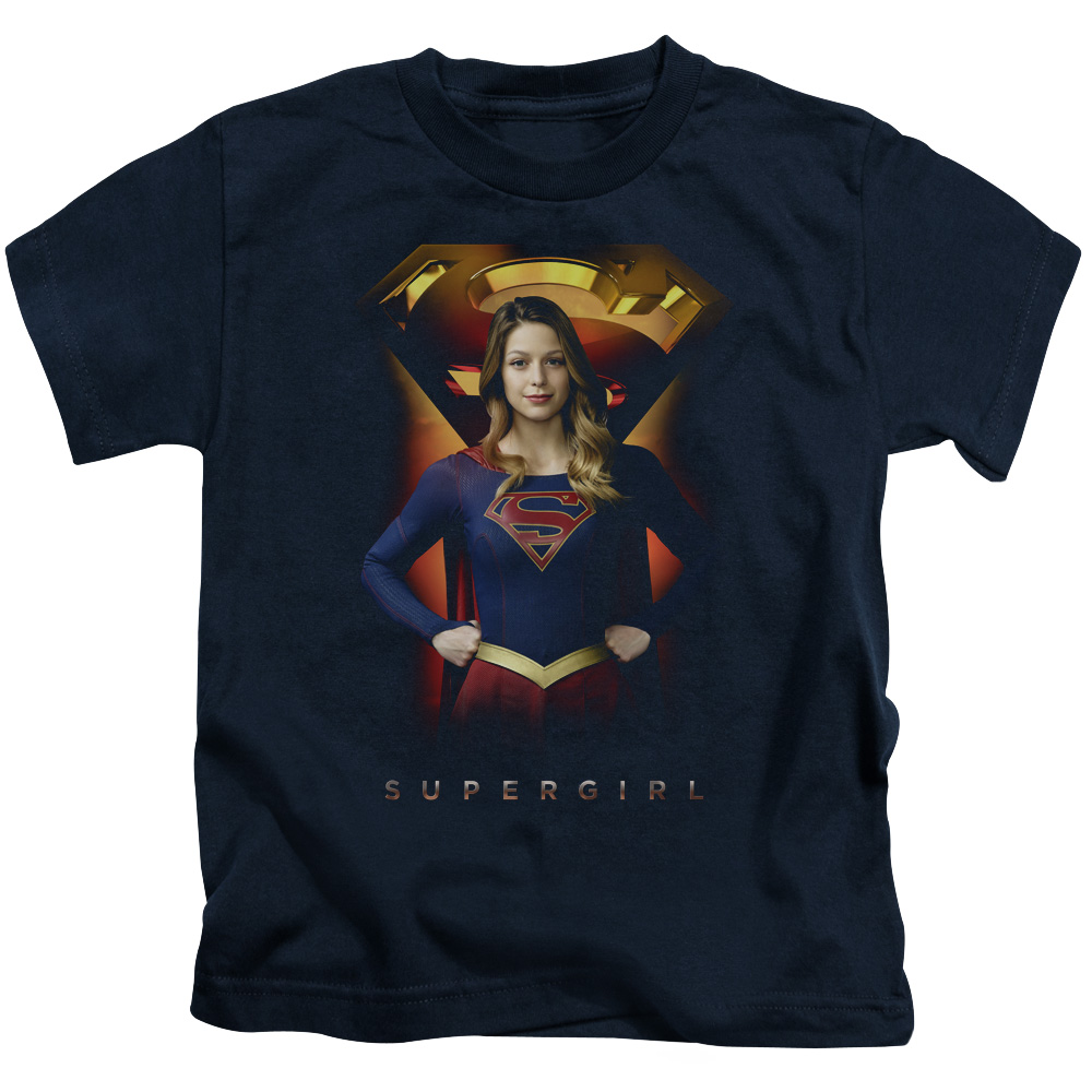 Supergirl Standing Symbol Little Boys Shirt