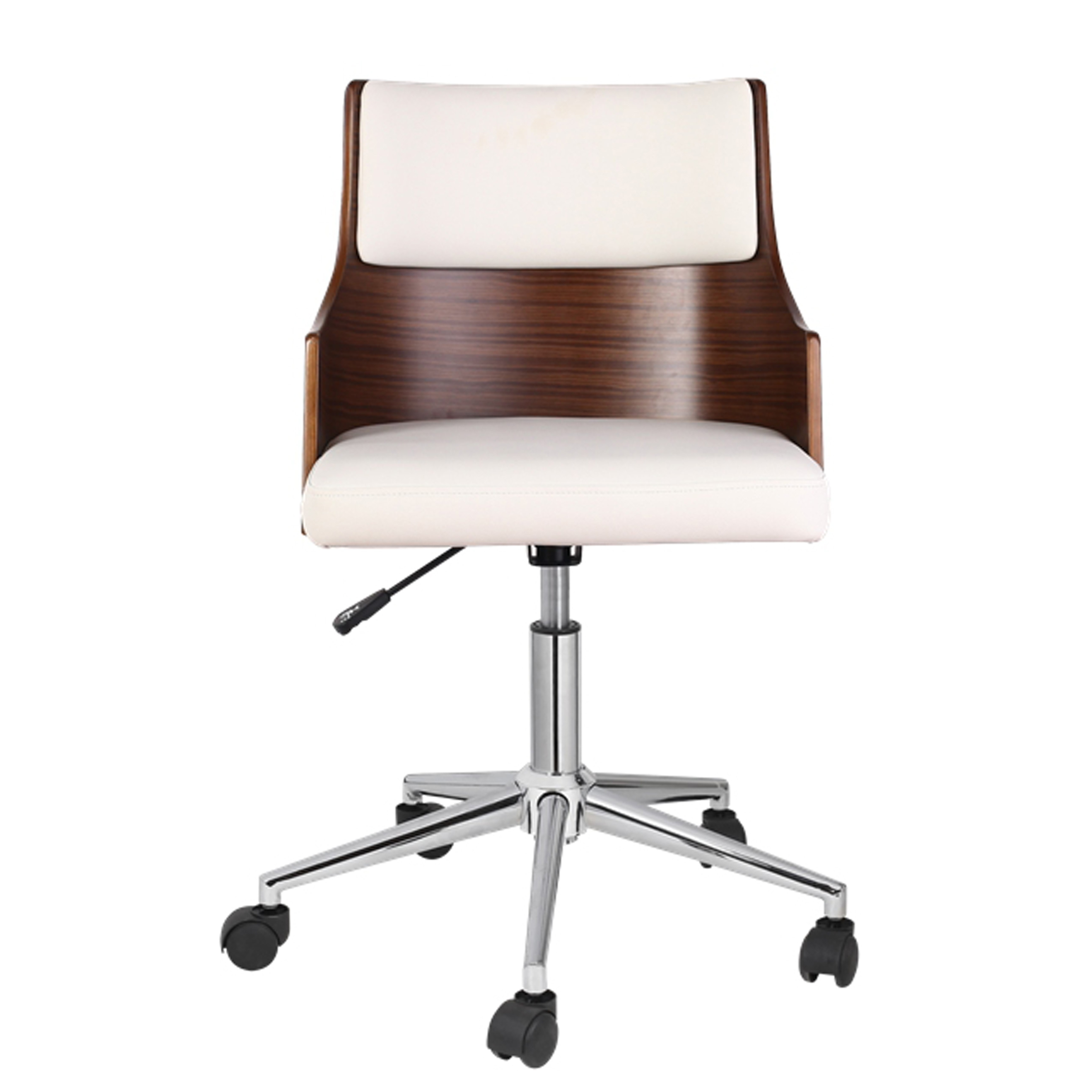 Porthos Home Office Chair With Pvc Upholstery Adjustable Height 360 Degree Swivel And Chrome Steel Legs Various Colors Walmart Com Walmart Com