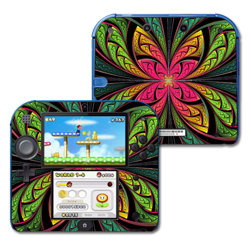Mightyskins Protective Vinyl Skin Decal Cover for Nintendo 2DS wrap sticker skins Trip Out