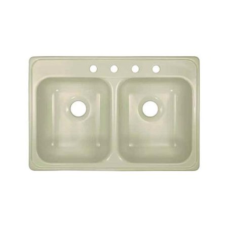 Lyons Industries DKS09ID-TB Biscuit Ideal Dual Bowl Acrylic 7.5 in. Deep  Kitchen Sink