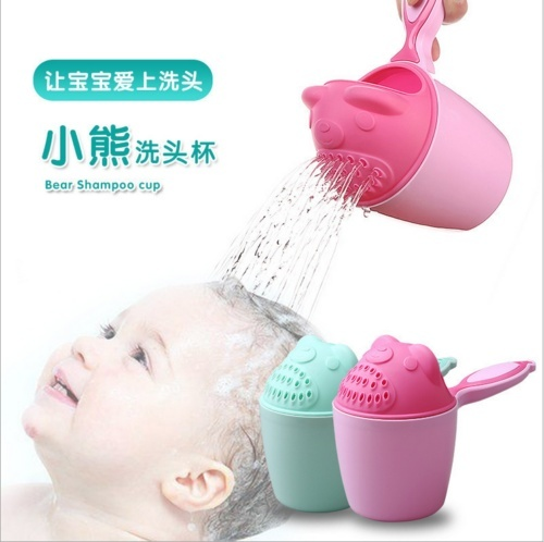Baby Infant Bath Rinse Cup Waterfall Rinser Kids Bathing Shower Bottle Hair Wash