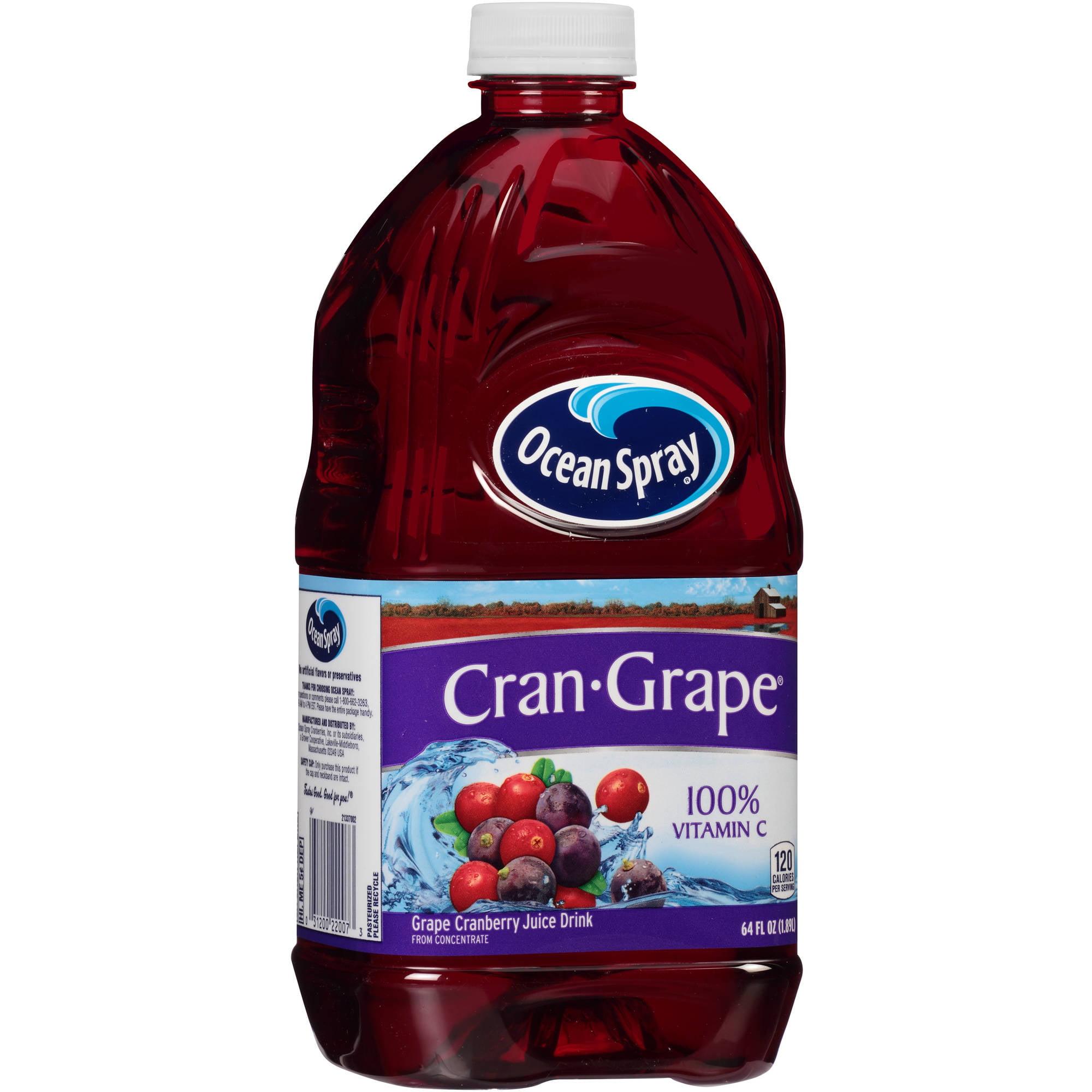 Ocean Spray Cran-Grape Juice, 64 fl oz