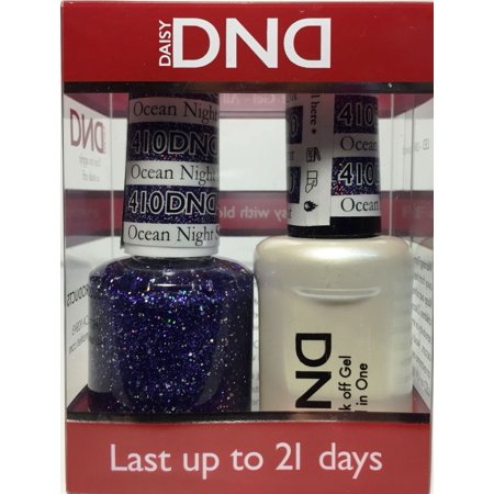 DND Nail Polish Gel & Matching Lacquer Set - 410 Ocean Night (Difference Between Gel Nails And Gel Polish)