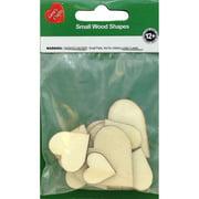 Assorted Wood Shapes-Hearts 12/Pkg