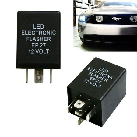 Ijdmtoy 1 5 Pin Ep27 Fl27 Electronic Led Flasher Relay Fix For Turn Signal Bulbs Hyper Flash