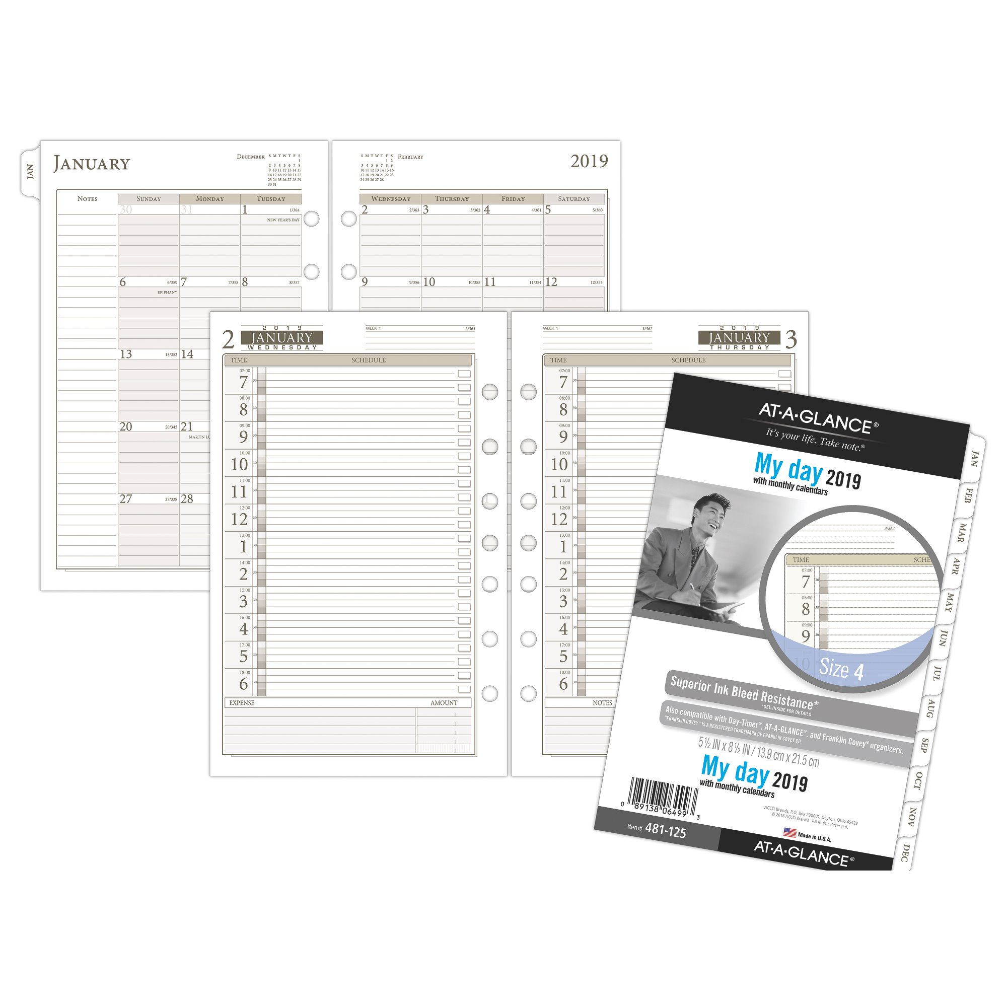 At-A-Glance Day Runner 1-Page-Per-Day Planner Refill Size 4 Daily Planner by AT-A-GLANCE Day Runner