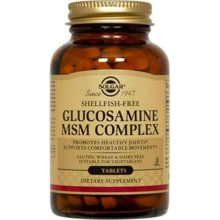 Solgar Glucosamine MSM Complex Shellfish Free 120 Tablets