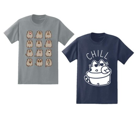Pusheen Mens 2 Pack Shirts The Cat 2 Pack T-Shirts (Large)](Pusheen Nurse)