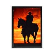 Trekshops Cowboy Sunset Metal Sublimation Print Profession/Commercial Wall Art