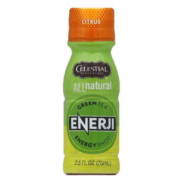 Celestial Seasonings Citrus Green Tea Energy Shot, 2.5 FO (Pack of 12)