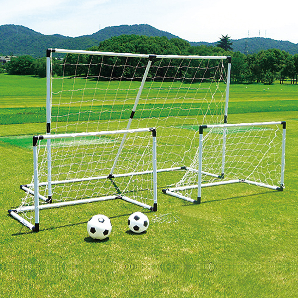 2-in-1 Soccer/Hockey goals with Nets, Stakes and Carry Case