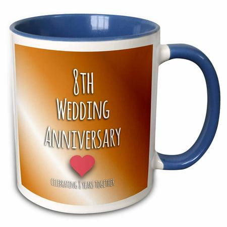 3dRose 8th Wedding Anniversary gift - Bronze celebrating 8 years ...