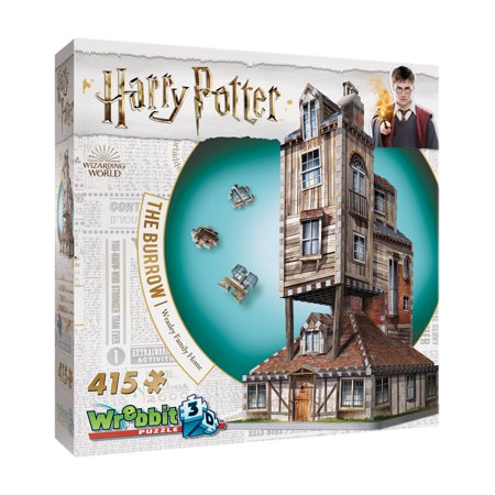 Harry Potter Collection - The Burrow - Weasley Family Home 3D Puzzle: 415 Pcs Chrysler Building 3d Puzzle