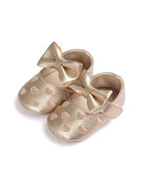 Taykoo 0-18M US Newborn Baby Girl Soft Crib Shoes Infants Anti-slip Sneaker Prewalker